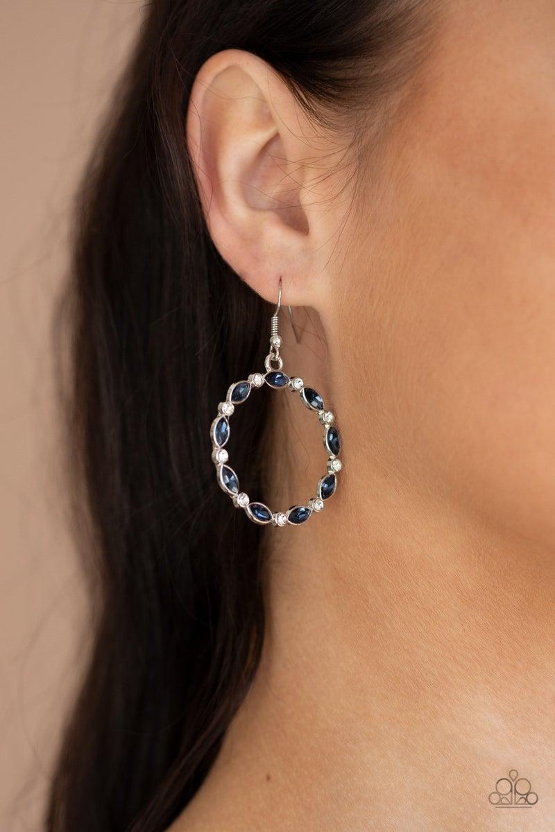 Crystal Circlets - Blue Earrings
