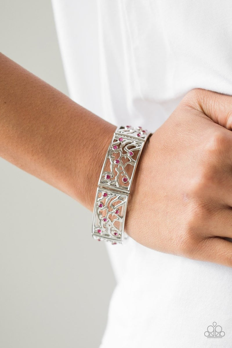Yours and VINE - Pink Stretchy Bracelet