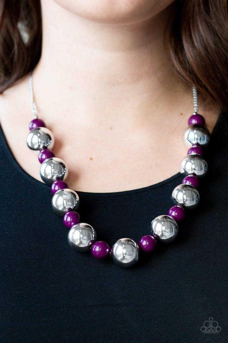 Top Pop - Purple Necklace