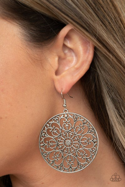 Make A MANDALA Out Of You - Silver Earrings