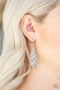 Ballroom Waltz - Silver Earrings