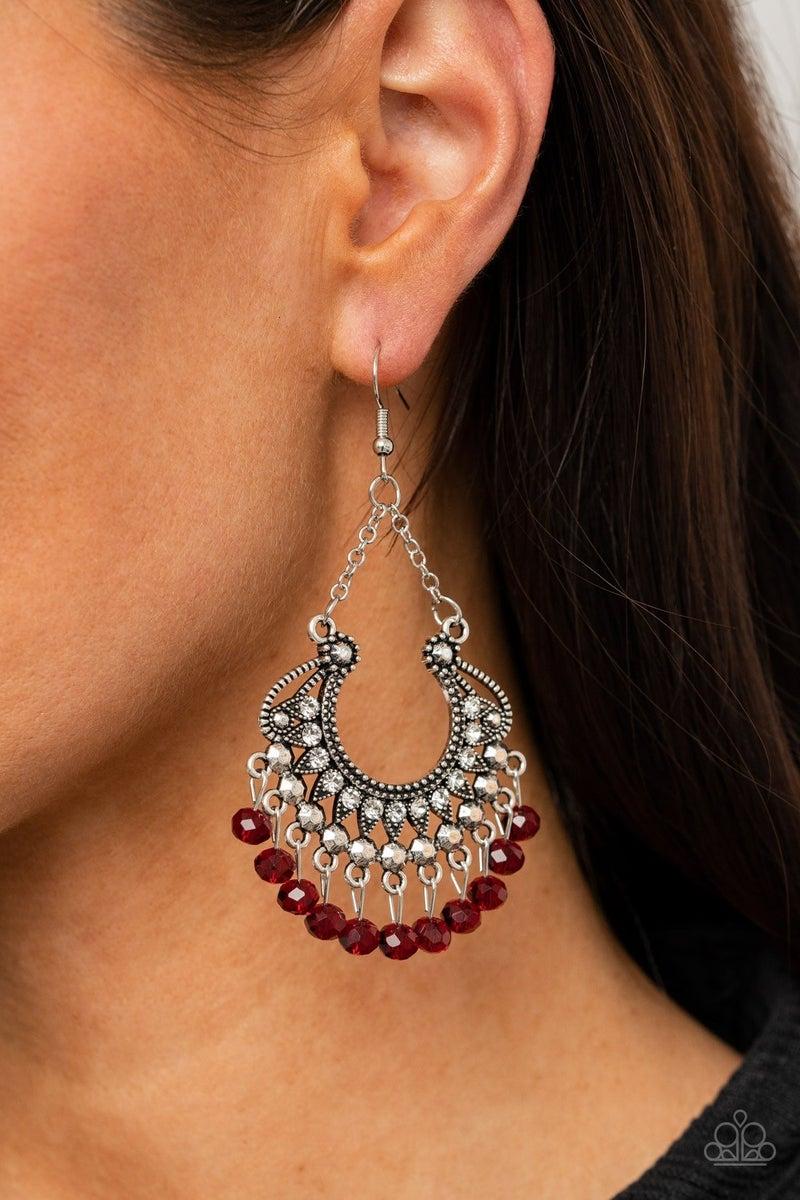GLOW Down In Flames - Red Earrings