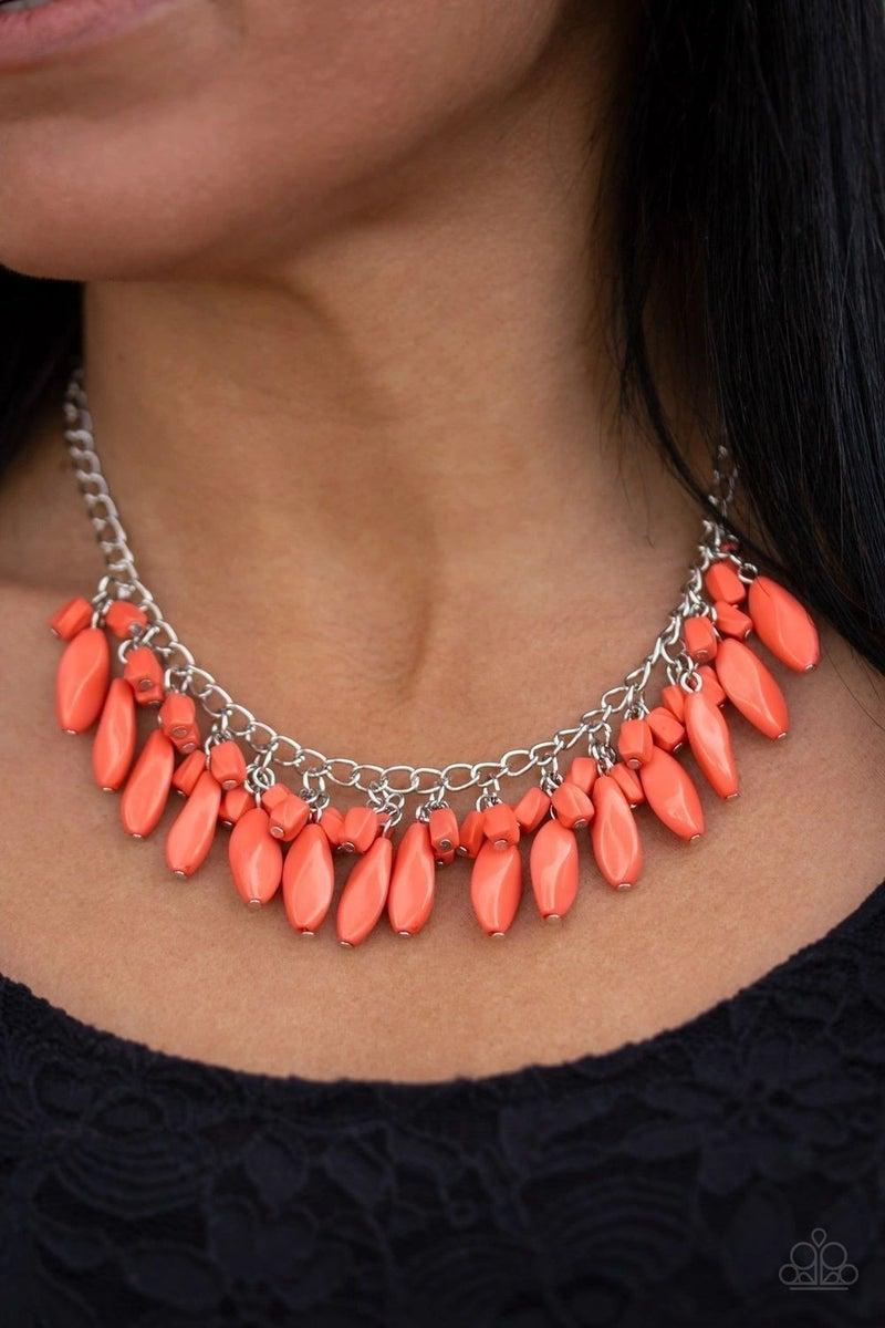 Bead Binge - Orange Necklace