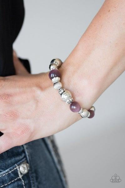 Once Upon A MARITIME - Purple Stretchy Bracelet