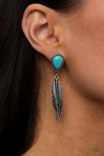 Totally Tran-QUILL - Blue Earrings