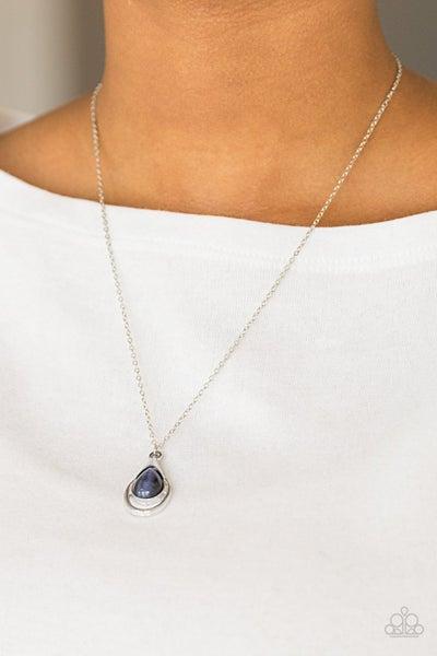 Just Drop It - Blue Necklace