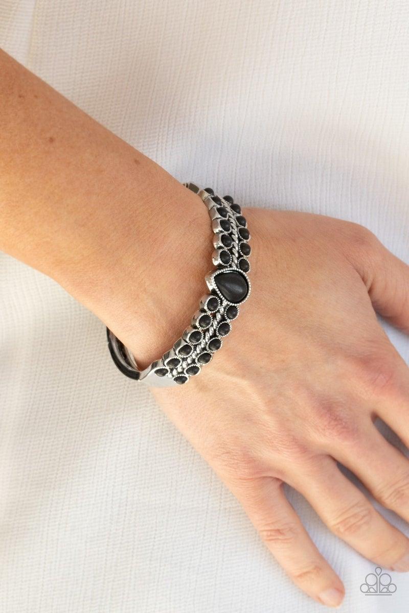 Nature Resort - Black Hinged Bracelet