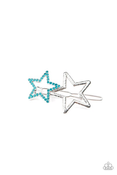 Lets Get This Party STAR-ted - Blue Hair Clip