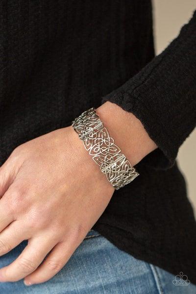 Namaste Gardens - Silver Stretchy Bracelet