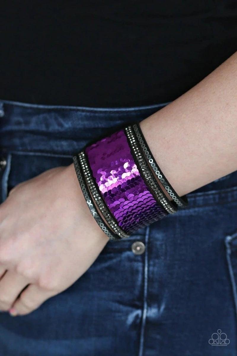 Heads or Mermaid Tails - Purple Snap Wrap