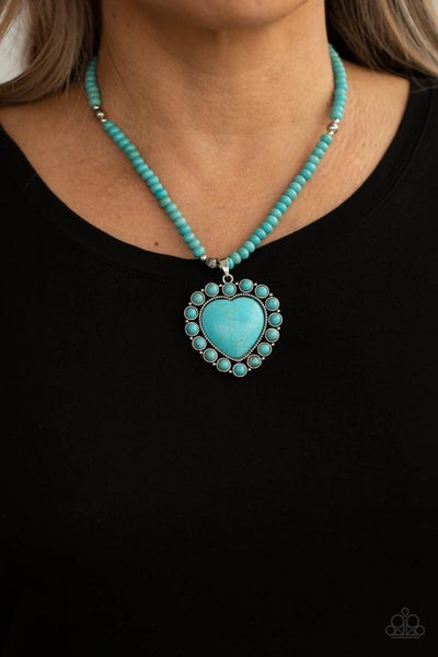 A Heart of Stone - Blue Necklace- Life of the Party April 2021