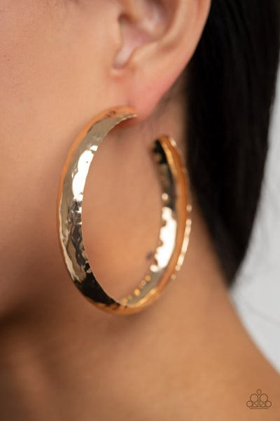 Check Out These Curves - Gold Hoop Earrings