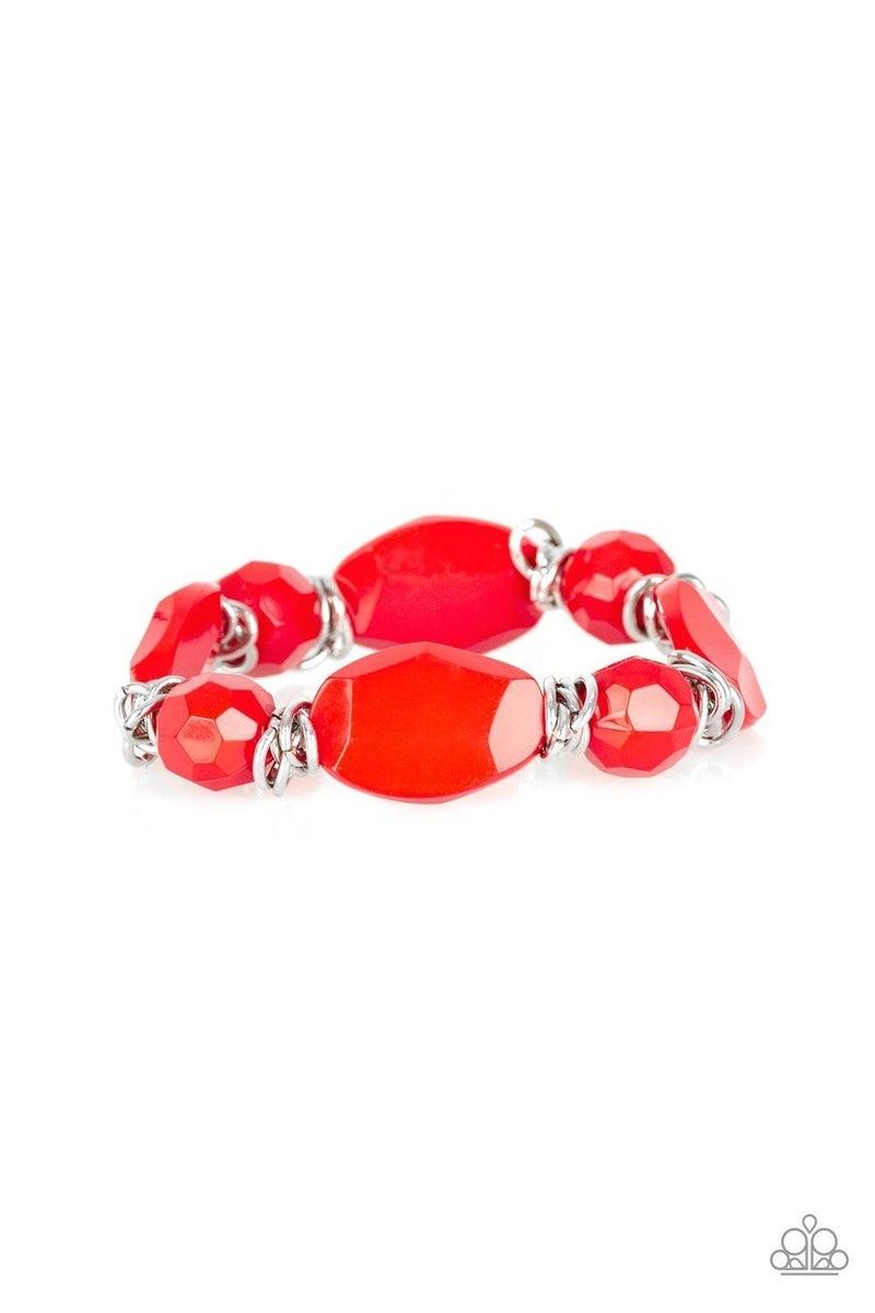 Savor the Flavor - Red Stretchy Bracelet