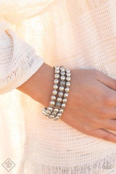 Trail Treasure - Silver Stretchy Bracelet
