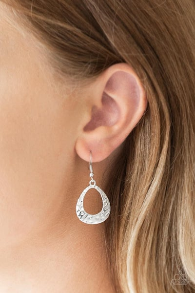 Radiantly Rugged – Silver Earrings