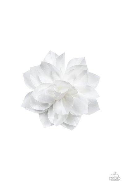 Gala Garden - White Hair Clip