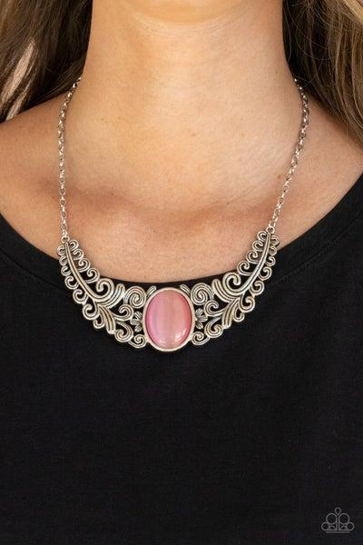 Celestial Eden - Pink Necklace