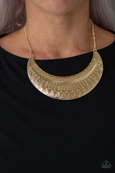 Large As Life - Gold Necklace