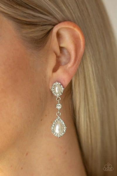 All-GLOWING - White Earrings