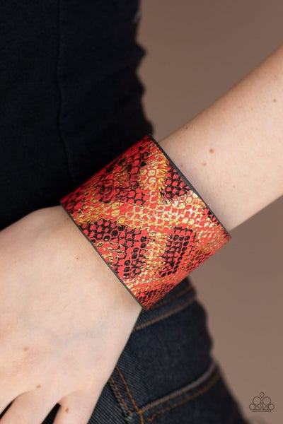 Serpent Shimmer - Red Snap Wrap