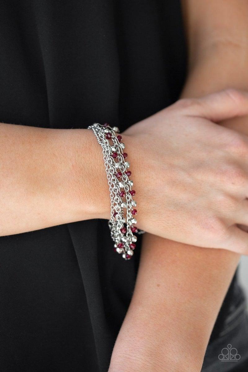 Cash Confidence - Red Clasp Bracelet
