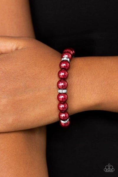 Exquisitely Elite - Red Stretchy Bracelet