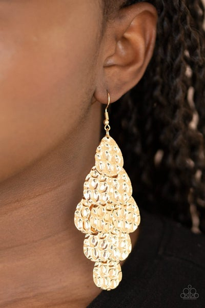 Instant Incandescence - Gold Earrings