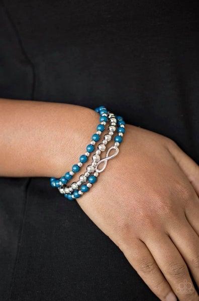mmeasurably Infinite - Blue Stretchy Bracelet