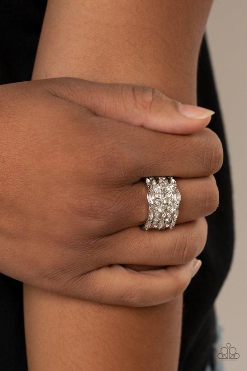 Diva Diadem - White Ring
