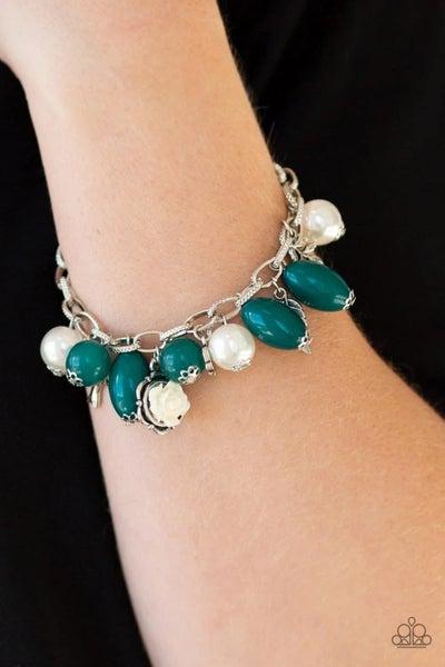 Love Doves - Green Clasp Bracelet