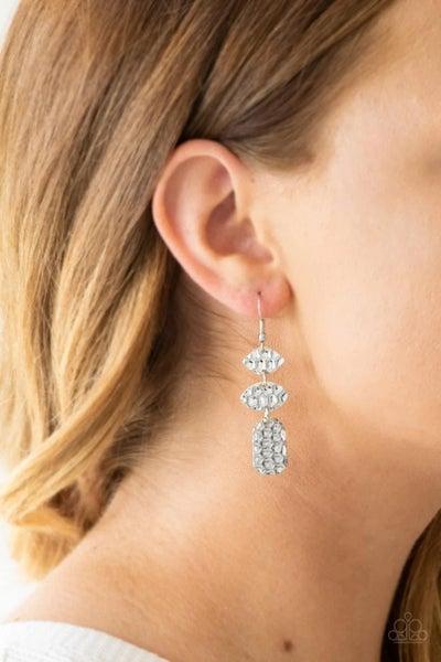 Nine To Hive - Silver Earrings