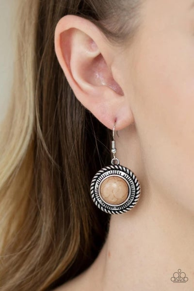 Natural Born Nomad- Brown Earrings