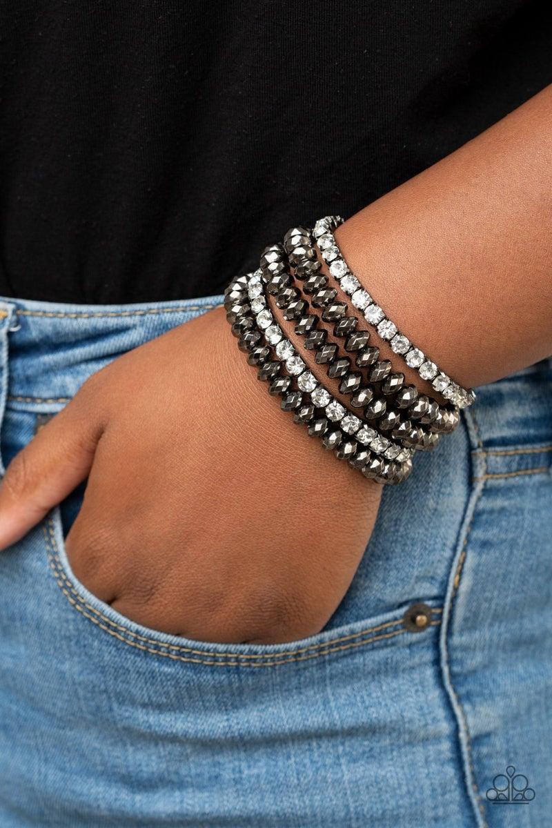 Best of LUXE - Gunmetal Stretchy Bracelet