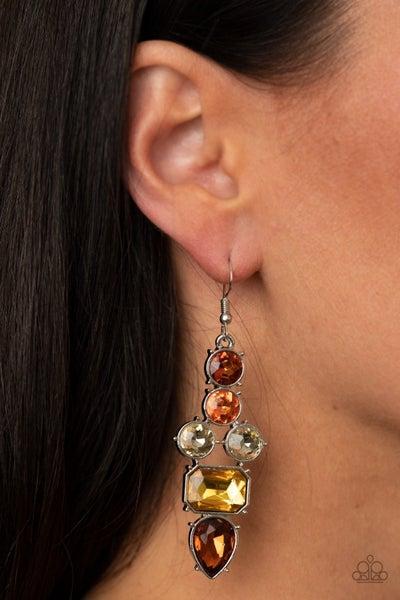 Look At Me GLOW! - Brown/Multi Earrings