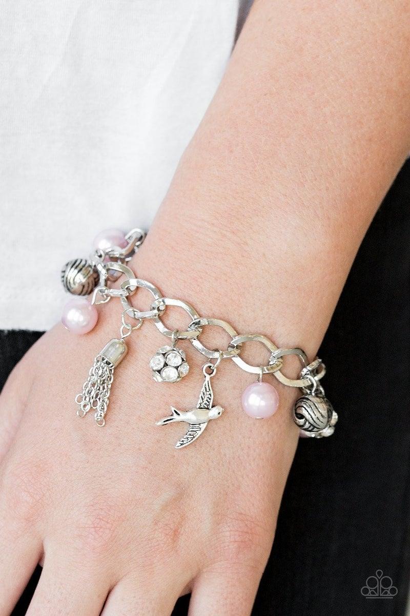 Lady Love Dove - Pink Clasp Bracelet
