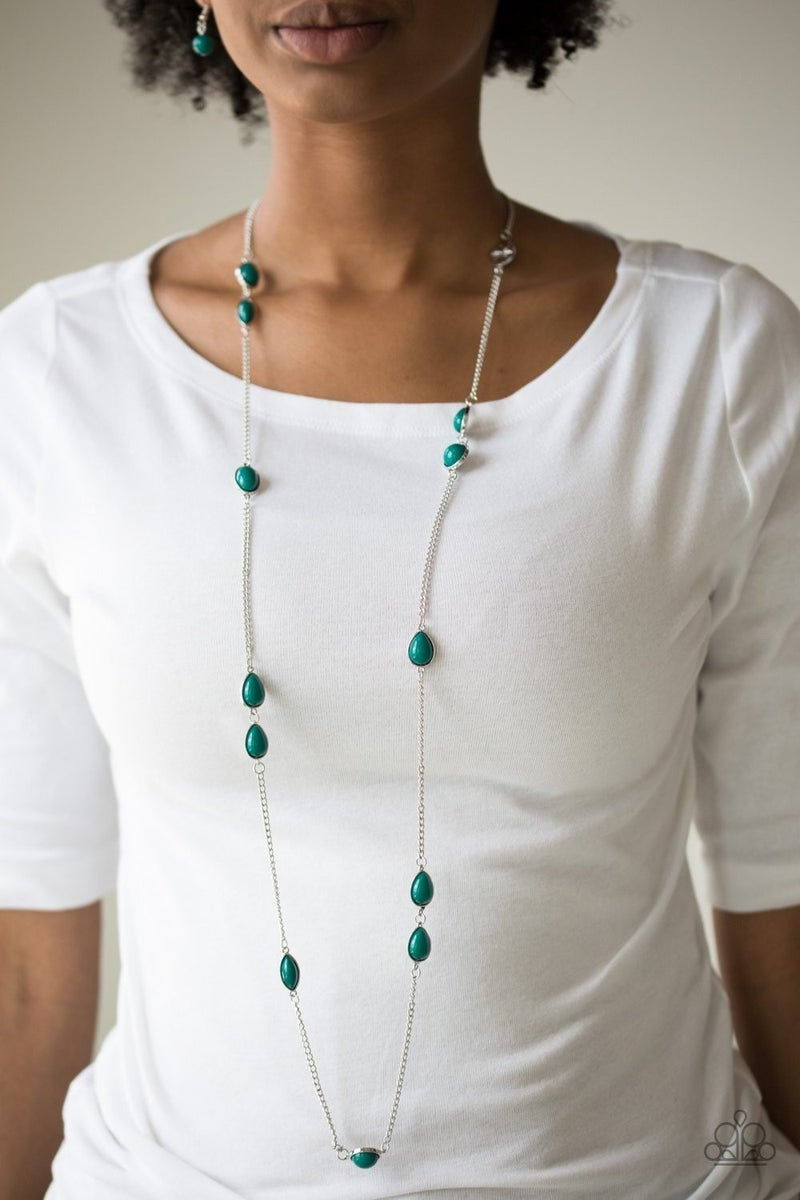 Pacific Piers - Green Necklace
