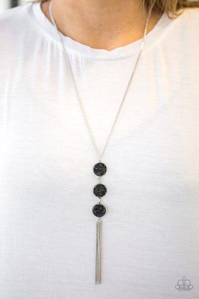 Triple Shimmer - Black Necklace