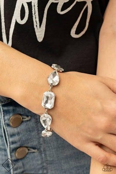Cosmic Treasure Chest - White Clasp Bracelet - March 2021 Fashion Fix