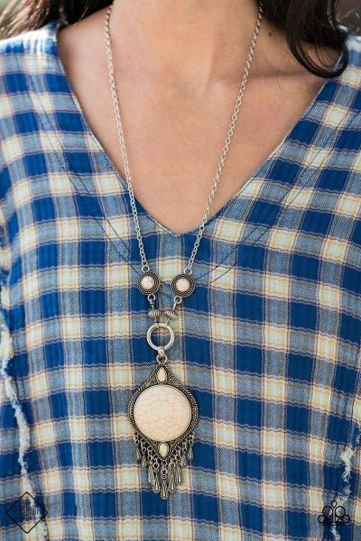 Majestic Mountaineer - White Necklace - January 2021 Fashion Fix