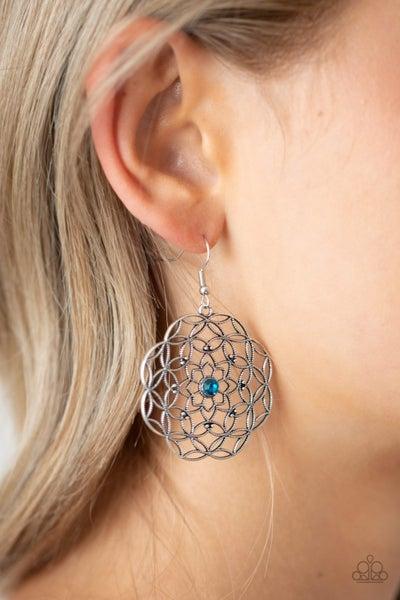 Botanical Bash - Blue Earrings