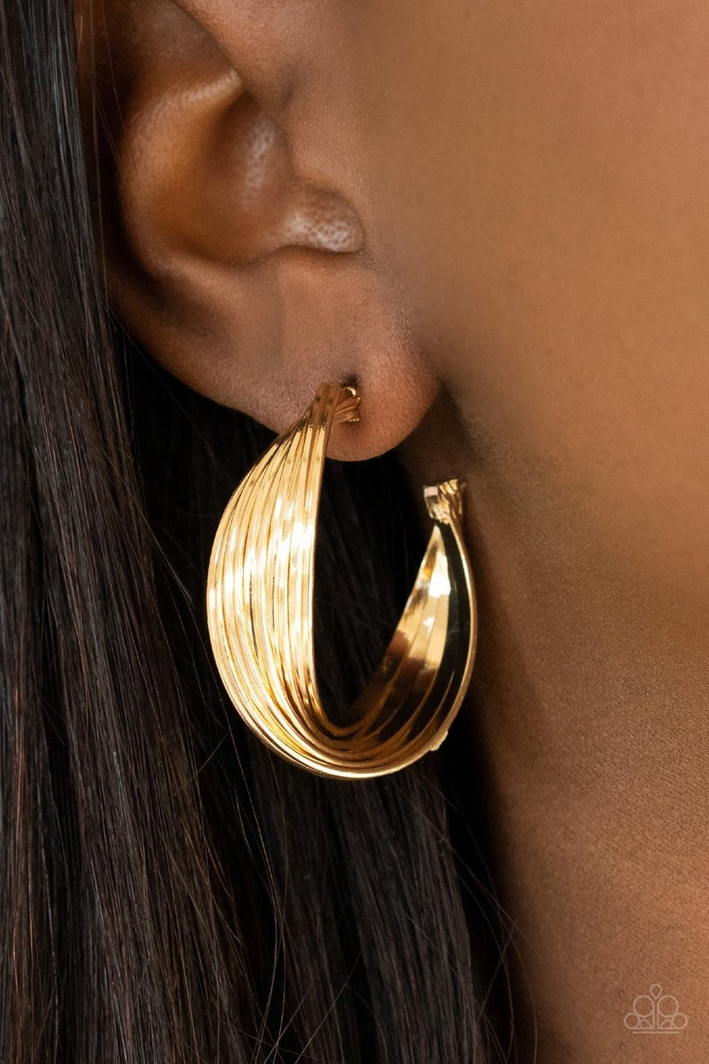 Curves In All The Right Places - Gold Hoop Earrings