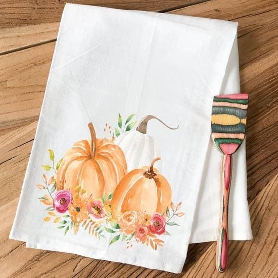 Floral Pumpkin Patch - Kitchen Towel