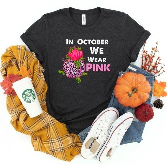 In October We Wear Pink Tshirt