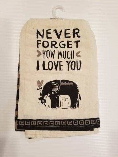 I Love You Elephant Towel