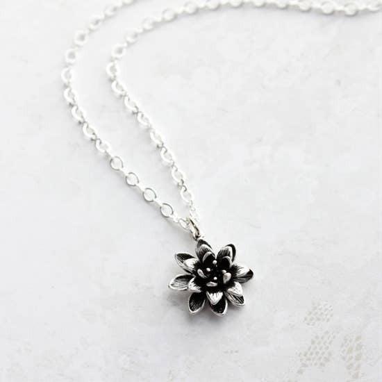 Silver Lotus Necklace