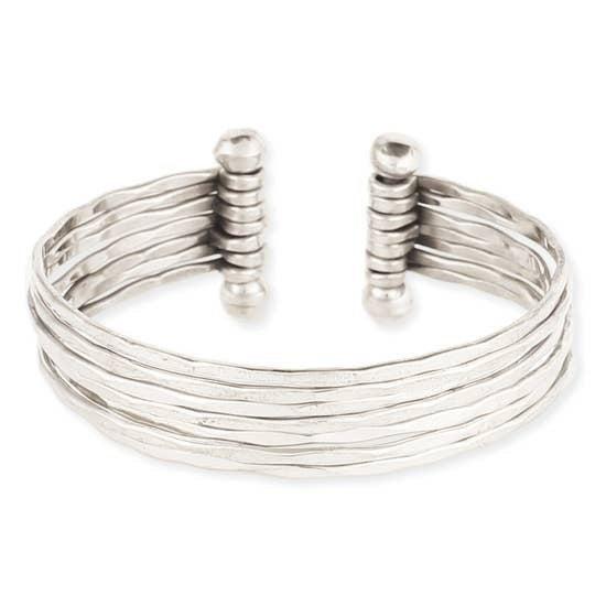 Silver 7 Line Cuff