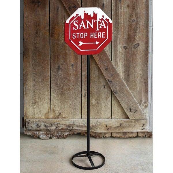 Santa Stop Sign