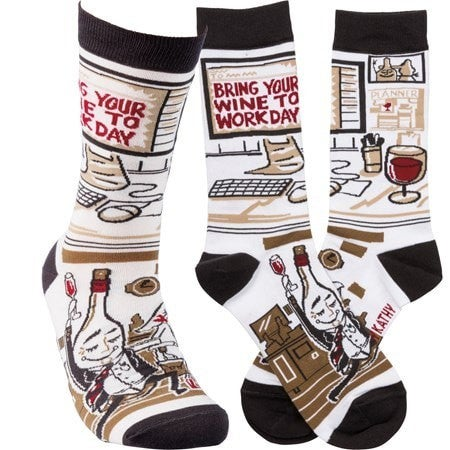 Wine to Work Socks