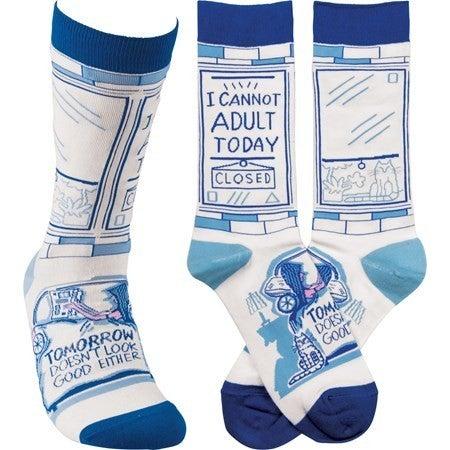 I Cannot Adult Socks