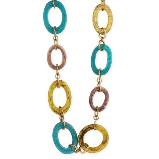 Marbled Resin Link Necklace